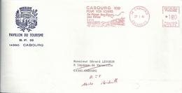 Ema Secap NA - Front De Mer De Cabourg - Plage - Lettre à Faire Suivre - EMA (Printer Machine)
