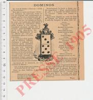 Presse 1907 Cercle De Dominotiers à Paris Jeu De Dominos Humour Poules Du Mans Coca Des Cinq-As (Incas Mariani) CHV28 - Sin Clasificación