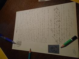 1885- VAR (BRIGNOLLES)  -Timbre COPIE Non DENTELE +TAMPON A SEC + OBL/ DECIMAL +FILIGRAMME + 5 Photos - Steuermarken