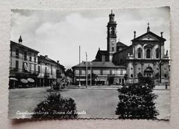 Cartolina Illustrata Casalpusterlengo-Piazza Del Popolo, Per Ferrara 1956 - Otras Ciudades