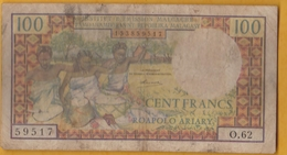 Madagascar - Billet De 100 Francs - Non Daté (1966) - P57a - Madagascar