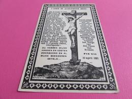 DOODSPRENTJE  PETRUS VAN DEN BOYENAS - Images Religieuses