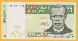 Malawi - Billet De 5 Kwacha - John Chilembwe - 1er Décembre 2005 - P36c - Neuf - Malawi