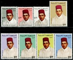 EG1034 Morocco 1968 King Hassan 8V With Highest Value Catalog Price 19 USD MNH - Neufs