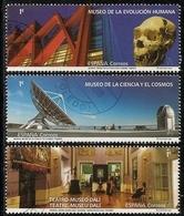 2020-ED. 5392 A 5394 -Museos. Evolución Humana, Ciencia Y El Cosmos De Tenerife Y Teatro- Museo Dalí- USADO - 2011-... Afgestempeld