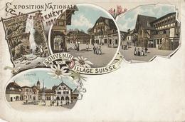 SUISSE - Exposition Nationale GENEVE 1896 - Souvenir Du Village Suisse - GE Genève
