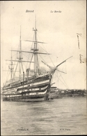 Cp Brest Finistère, Le Borda, Linienschiff, Französische Marine - France