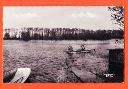 X62146 ECOURT-SAINT-QUENTIN (62) Vue Sur Les MARAIS Barque Partie Pêche 1950s à MONCOUET Le Burgaud-MORELLE TRIQUOIT - France