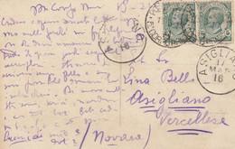 """9760-CARTOLINA ILLUSTRATA-""""POSTA MILITARE-5° CORPO ARMATA-A"""" - 15-3-1916 - Storia Postale"""
