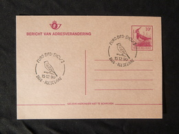 BELG.1990 Address Change Card 10 BEF (Dutch) , Buzin Bird, Northern Lapwing, Vanneau Huppé, Kievit - Entiers Postaux