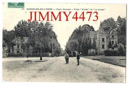 CPA - BAGNOLES DE L'ORNE 61 Orne En 1922 - Place Centrale, Villa Aimée Et Le Castel - N° 51 - Edit. E. L. D  Recto-Verso - Bagnoles De L'Orne