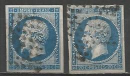 France - Napoleon III - N°14 A Et B Oblitérés - 1853-1860 Napoleon III