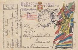 """9765-FRANCHIGIA 1° GUERRA-""""POSTA MILITARE-37"""" - 27-10-1918 - 1900-44 Victor Emmanuel III"""