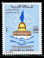 EG1059 Morocco 1981 Solidarity With Palestine 1V MNH - Neufs