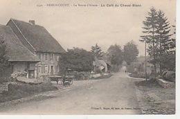 20 / 4 / 434. -   BESSONCOURT   (. 90 ). LA  ROUTE D'ALSACE. -  LE. CAFÉ  DU. CHEVAL  BLANC   - CPA - France