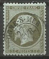 France - Napoleon III - N°19 Oblitéré - Cachet à Date BOULOGNE-SUR-MER (Pas-de-Calais) - 1862 Napoléon III