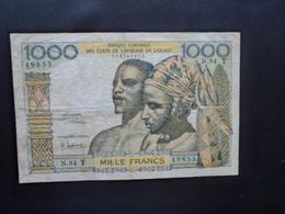 TOGO : BANQUE CENTRALE DES ÉTATS DE L'AFRIQUE DE L'OUEST : 1000 FRANCS   ND Signature 6  P 803Tg *   TTB - Togo