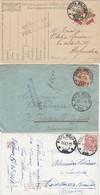 """9769-N°. 3 PEZZI 1° GUERRA-""""POSTA MILITARE-111"""" - 1917-18-19 - 1900-44 Victor Emmanuel III"""