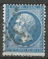 France - Napoleon III - N°22 Oblitéré - Etoile De Paris - Bureau N°12 - Boulevard Beaumarchais - 1862 Napoleon III