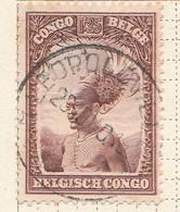 PIA - CONGO BELGA  - 1931-37 : Uso Corrente - Capo Manfibetu -  (Yv 177) - Oblitérés