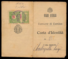 COMISO  CARTA D'IDENTITA' CON MARCA DA BOLLO 1933 - Documents Historiques