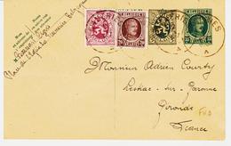 Belgique,  Entier 35c Avec Compléments Deux Emissions Diférentes , De Frameries  En 1930 Pour La France TB - Cartes Postales [1909-34]