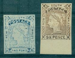 NOUVELLES GALLES DU SUD N°12 + 15 N (x) FAUX ANCIENS . TB Originaux Cote + 4000 € - 1850-1906 New South Wales