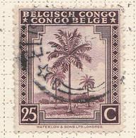 PIA - CONGO BELGA  - 1942 : Serie Corrente : Palme Da Olio  -  (Yv 232) - Oblitérés