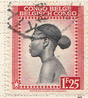 PIA - CONGO BELGA  - 1942 : Serie Corrente : Donna Batetela  -  (Yv 238) - Oblitérés