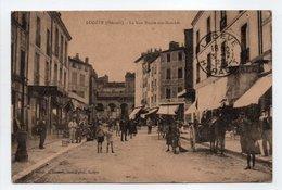 - CPA LODÈVE (34) - La Rue Neuve-des-Marchés 1922 (belle Animation) - Photo Froment - - Lodeve