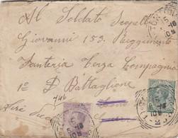 9770-LETTERA ASSICURATA SPEDITA A MILITARE IN DATA 15-5-1916 - 1900-44 Victor Emmanuel III