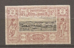 COTE S  - Yt.  N°  7  (o)   2c  Dijibouti  Cote  4,75  Euro BE R  2 Scans - Ungebraucht