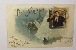 """""""Neujahr, Männer, Feiern, Sekt, Fenster""""  1898 ♥  - New Year"""