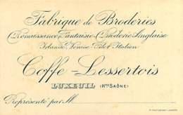 270420 - CARTE VISITE 70 LUXEUIL COFFE LESSERTOIS Fabrique De Broderies - Luxeuil Les Bains