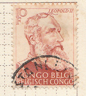 PIA - CONGO BELGA  - 1947 : In Ricordo Della Lotta Antischiavista - Re Leopoldo II  -  (Yv 276) - Oblitérés