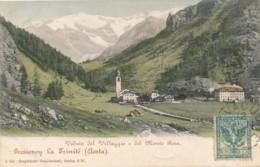 2b.964.  Valle D'Aosta - GRESSONEY LA TRINITÉ - Veduta Del Villaggio E Monte Rosa - 1905 - Otras Ciudades