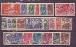 Guinée N° 125 à 146** - French Guinea (1892-1944)