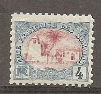 COTE S  - Yt.  N°  39  *   4c  Mosquée Cote  3,5 Euro BE R 2 Scans - French Somali Coast (1894-1967)