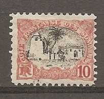 COTE S  - Yt.  N°  57     10c  Mosquée Cote  12   Euro BE R 2 Scans - French Somali Coast (1894-1967)