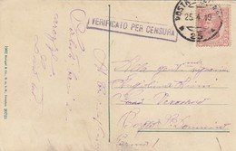"9776-CARTOLINA ILLUSTRATA -""POSTA MILITARE-25"" - 25-4-1919 - 1900-44 Victor Emmanuel III"
