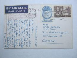 1955 , Postcard With Perforation , Perfin - 1952-.... Règne D'Elizabeth II