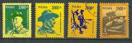 POLAND Oblitéré 3159-3162 Anniversaire Du Scoutisme En Pologne Scout Baden Powell Kossak - Oblitérés