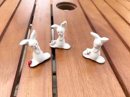 3 Fèves 'Kangourou' En Porcelaine - Très Bon état - Animals