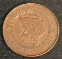 BOSNIE HERZEGOVINE - 20 FENINGA 1998 - KM 116 - Bosnia And Herzegovina - Bosnia And Herzegovina