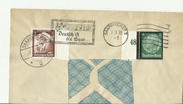 DR CV FRON 1935 SAARBRIEKEN - Storia Postale