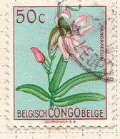 PIA - CONGO BELGA  - 1952 : Serie Corrente - Fiori : Angraecum  -  (Yv 307) - Oblitérés