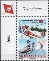 Monaco 3018 JO De La Jeunesse Lillehammer - Winter 2016: Lillehammer (Youth Olympic Games)