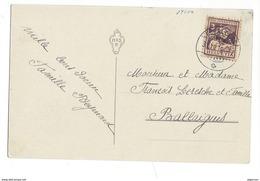 15981 -Timbre Pro Juventute N° 4 Fribourgeoise  Echallens 31.12.1916 Pour Ballaigues Sur Carte Bonne Et Heureuse Année - Pro Juventute