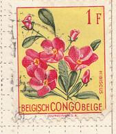 PIA - CONGO BELGA  - 1952 : Serie Corrente - Fiori : Ibiscus  -  (Yv 310) - Oblitérés