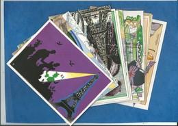 Lot De 13 Cartes Toutes Différentes - Centenaire De La Tour Eiffel Salon Levallois Perret ( Illustrateur Hamm Mogère Def - 5 - 99 Postcards